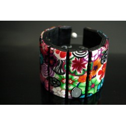 Bracelet manchette en polymère