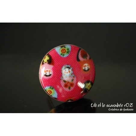 Bague bouton matriochka