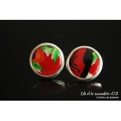 Boucles d'oreilles puces en polymere