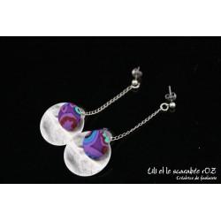 Boucles d'oreilles pendantes colorées 02