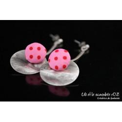 Boucles d'oreilles pendantes colorées 04