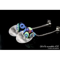 Boucles d'oreilles pendantes colorées 06