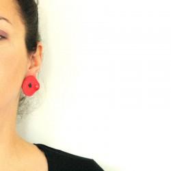 Boucles d'oreilles grandes puces coquelicots