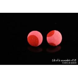 Boucles d'oreilles puces boutons Osmose