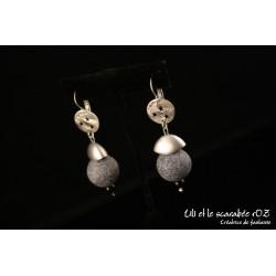 Boucles d'oreilles pendantes en polymère