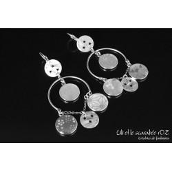 Boucles d'oreilles sur mesure - collection tzigane