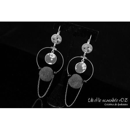 Boucles d'oreilles à pompons personnalisées