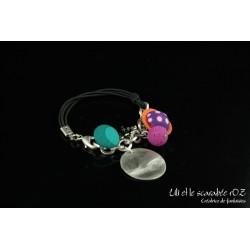Bracelet fantaisie haut en couleurs