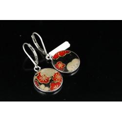 Boucles d'oreilles rouge et noir - Lili et le scarabée rOZ
