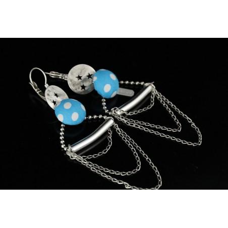 Boucles d'oreille originales à chainettes
