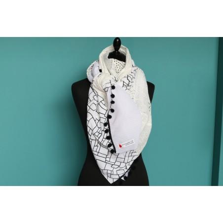 Foulard blanc original