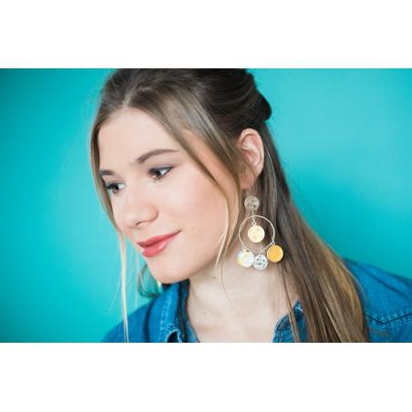 Boucles d'oreilles Tzigane à breloques colorées
