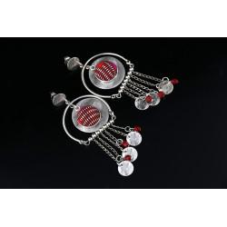 Boucles d'oreilles fantaisie à pendants