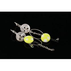 Boucles d'oreilles boutons asymétriques