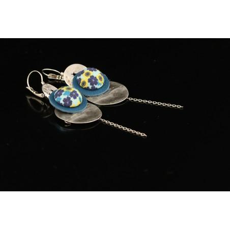 Boucles d'oreilles pendantes colorées