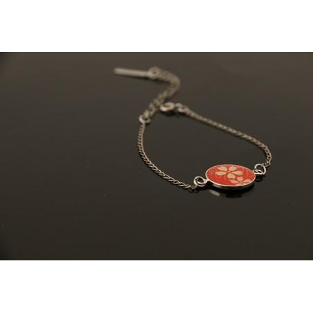 Bracelet médaillon en papier japonais