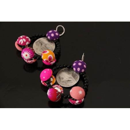 Boucles d'oreilles textile