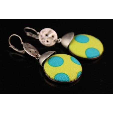 Boucles d'oreilles boutons colorées