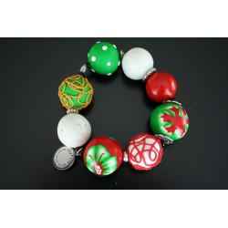 Bracelet Gourmandises rouge et vert