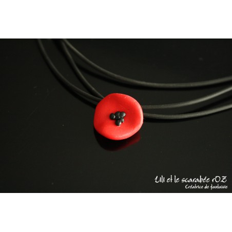 Collier pendentif coquelicot / PROS