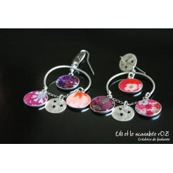 Boucles d'oreilles tzigane rondes / PROS